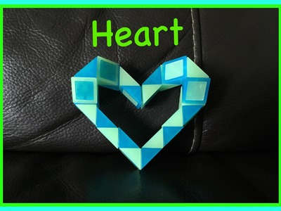 Smiggle Snake Puzzle or Rubik's Twist Tutorial: How to make a Heart - Step by Step Video
