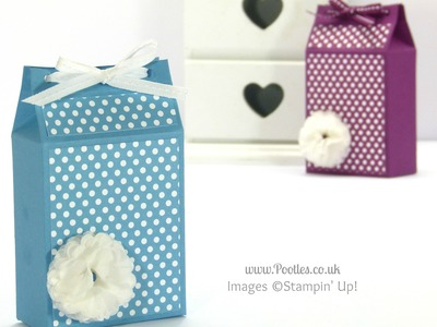 Spotty Triangular Top Box Tutorial using Stampin' Up! Polka Dot Parade Paper