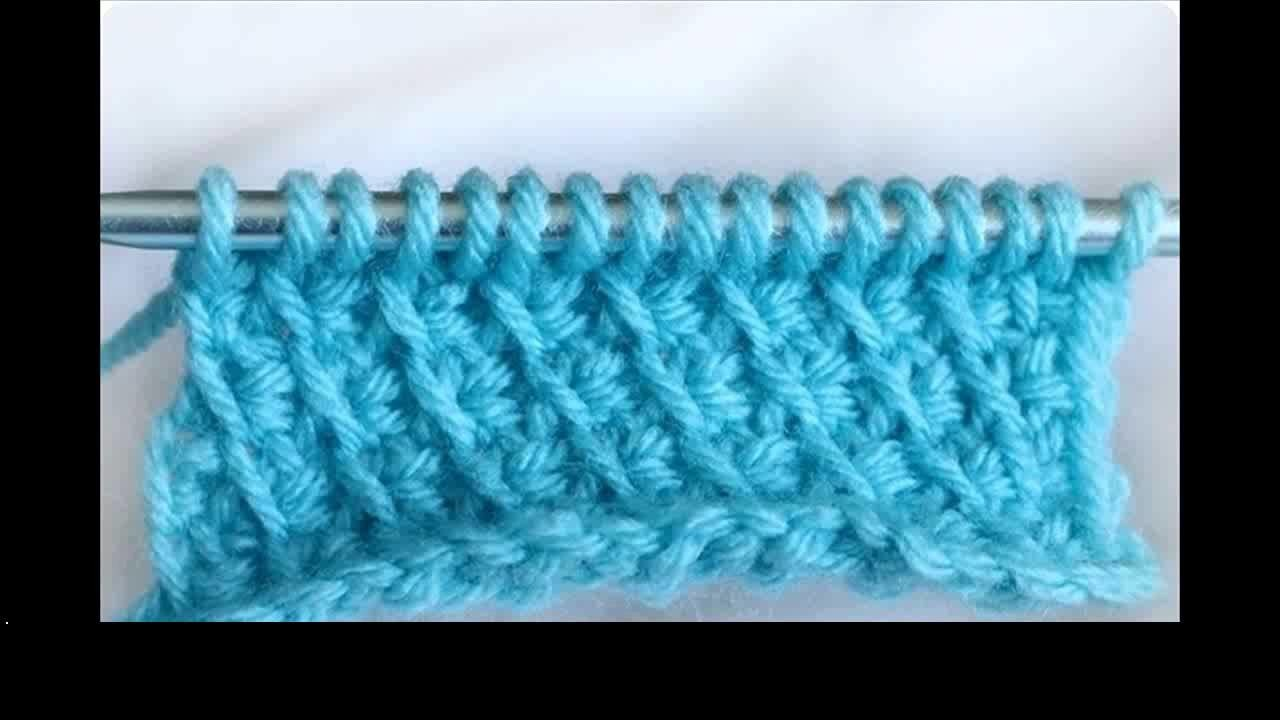 Tunisian crochet honeycomb