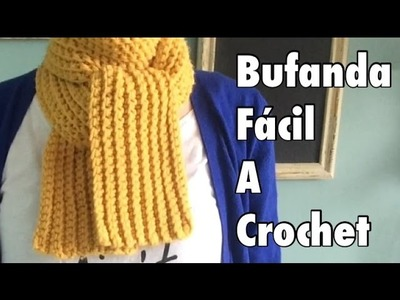 Tutorial #1: Bufanda Fácil a Crochet - Easy Crochet Scarf (English Subtitles)