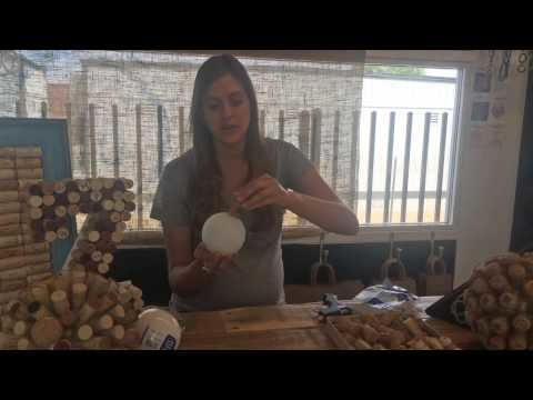 BluMarble-DIY Cork Sphere|Great Wedding Center Piece Ideas