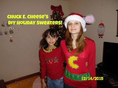 Chuck E. Cheese's DIY Holiday Sweaters!