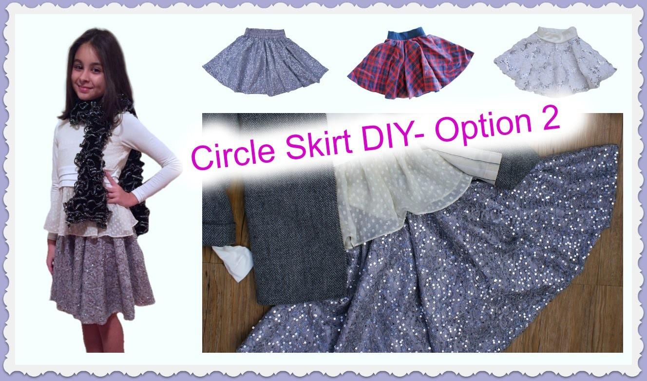 Circle Skirt DIY - with elasticated Waistband
