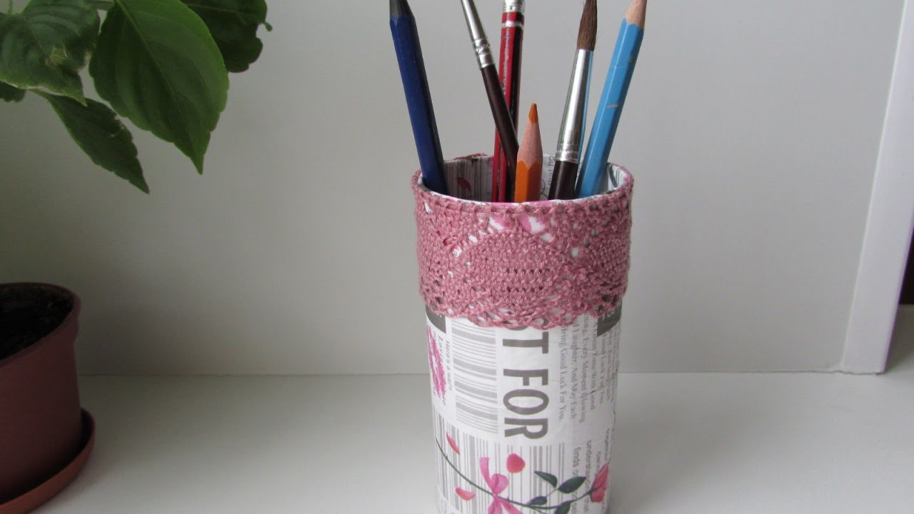 Create a Recycled Thread Spool Pencil Cup - DIY Home - Guidecentral