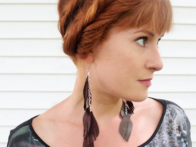 Create Cool Leather Feather Earrings - DIY Style - Guidecentral