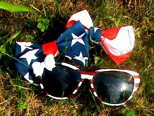 DIY | AMERICAN FLAG Sunglasses + Bows