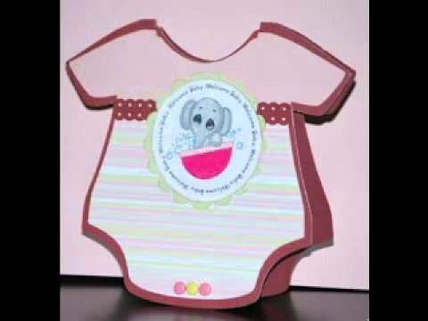 DIY Baby shower cards decorating ideas