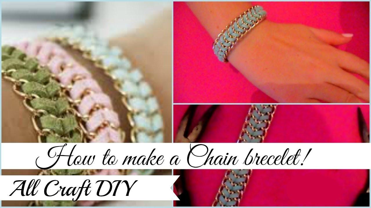 DIY.Chain brecelet n.1!