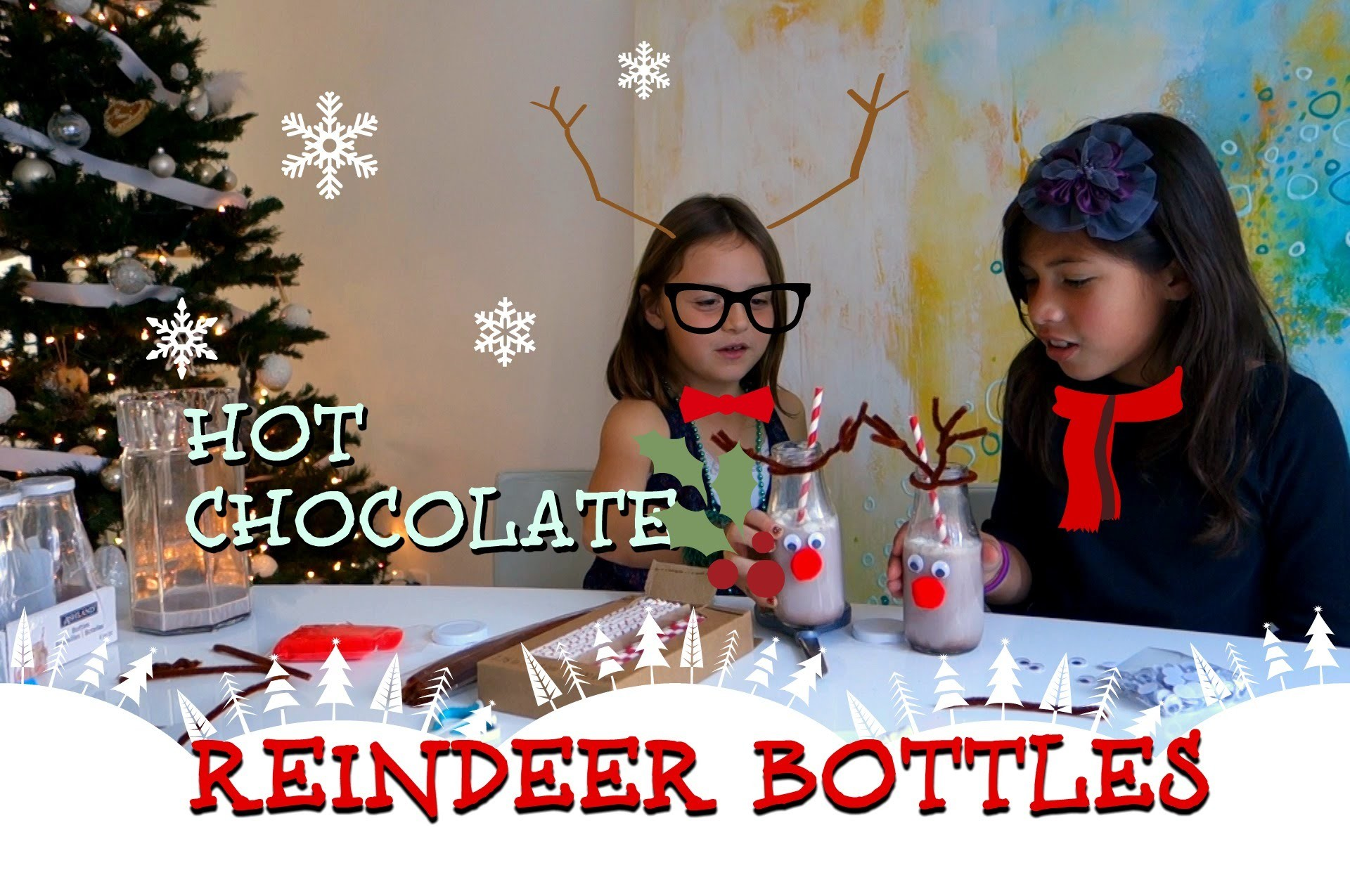 DIY Christmas Hot Chocolate Reindeer Bottles