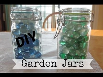 DIY: Glow in the Dark Garden Jars| KimAndGillTV