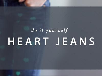 DIY Heart Jeans