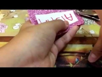 *\DIY.* How To Make Name Tag Or Book Mark