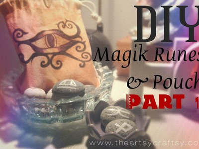 DIY Magikal Runes with Bag Part 1
