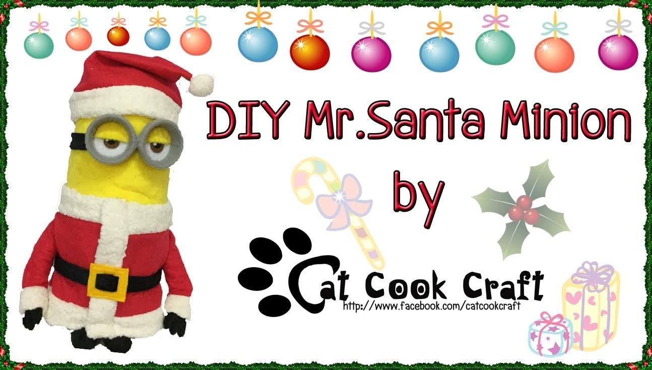 DIY Mr. Santa Minion outfit (Free pattern)