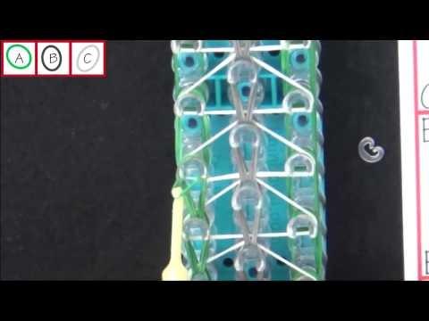 DIY Rainbow Loom® Triple Single Backpack Tag Lección 56