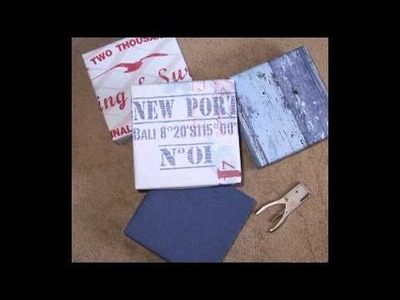 DIY reusable Giftboxes with wallpaper