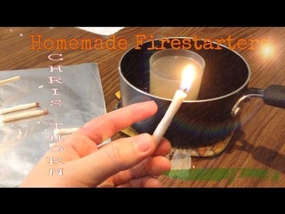 DIY - Self Igniting Homemade Survival Matches - Candles - Fire Starters