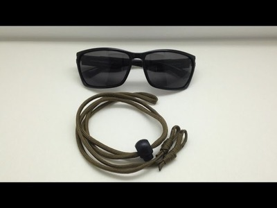 DIY Sunglass Paracord Strap (Sunglasses)