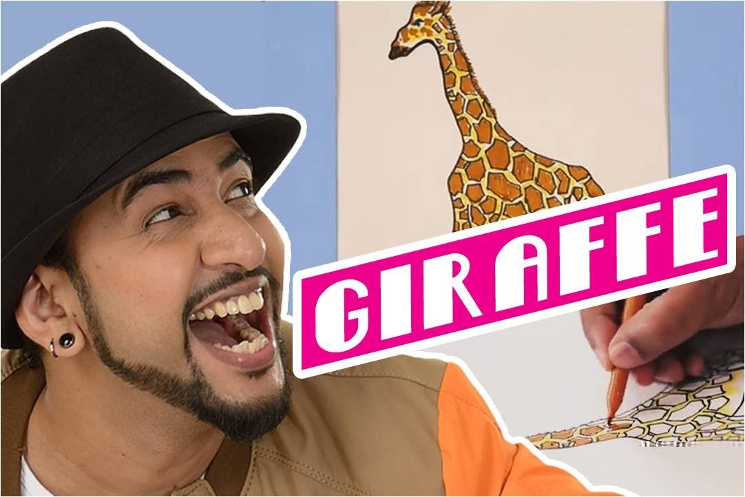 Mad Stuff with Rob - MSWR Shorts | How to draw a Giraffe | DIY Drawing for children