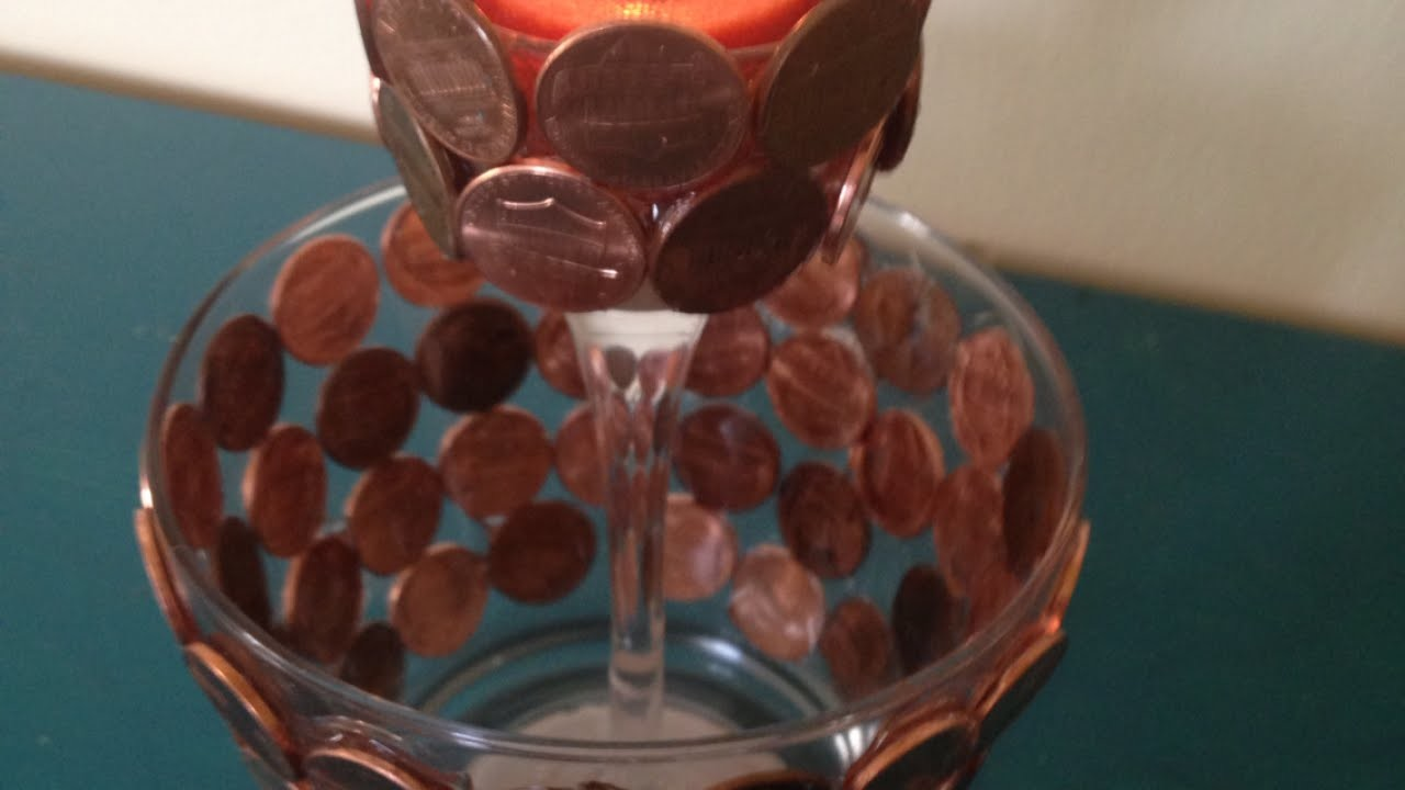 Make a Decorative Candle Holder With Pennies - DIY Home - Guidecentral