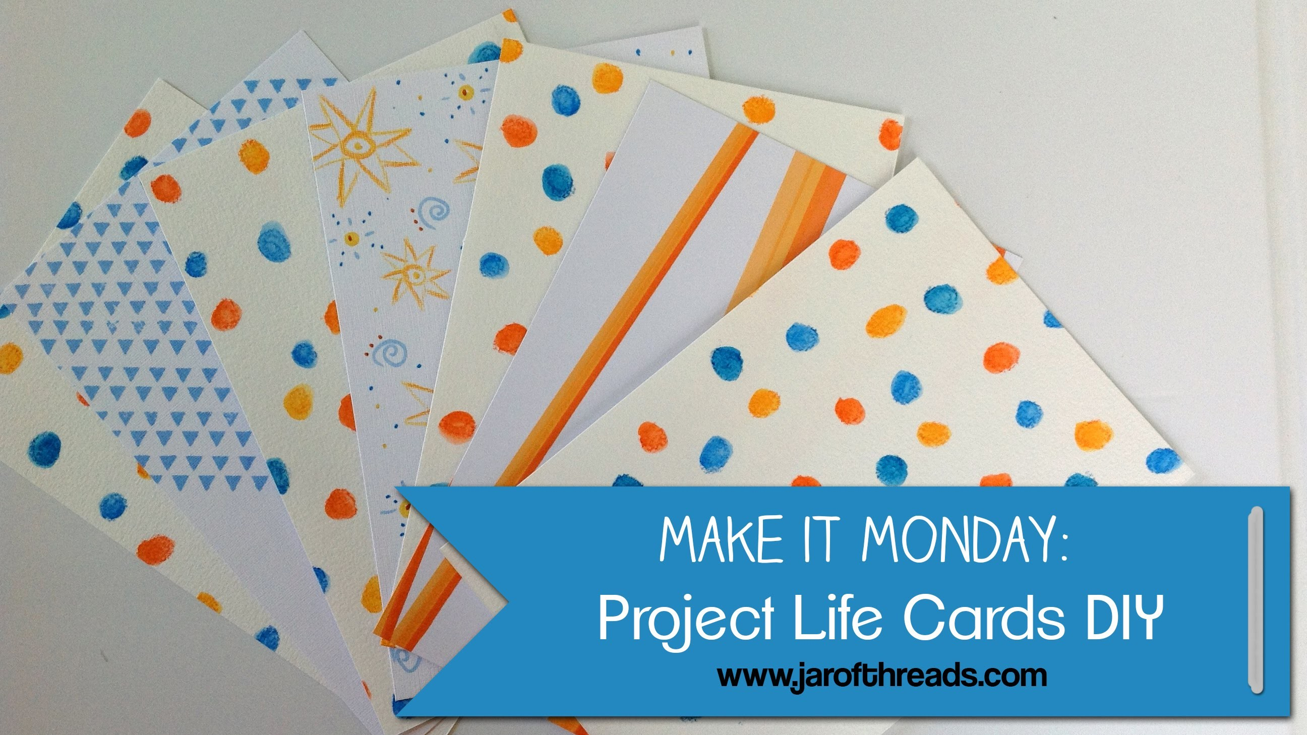 Make It Monday: DIY Project Life Cards