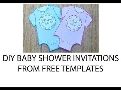 Onesie Baby Shower Invitations - DIY