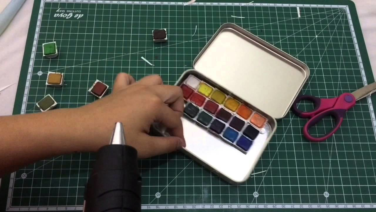VLOG #7: DIY Watercolor palette