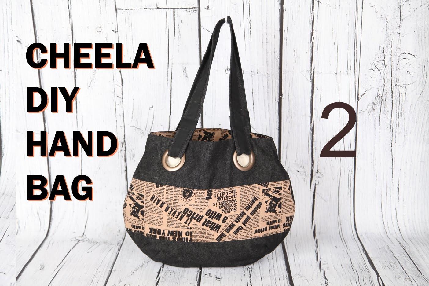 Cheela 3b. Curtain eyelet rings finish. Bias ring finish to handles. DIY Bag Vol 20B