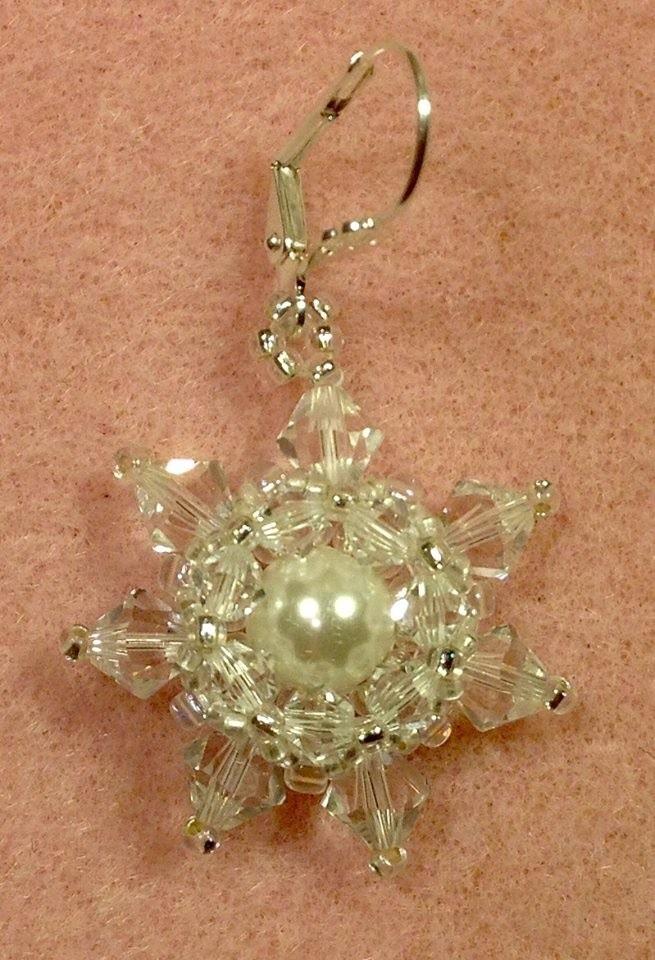 Crystal Snowflake Earrings Tutorial