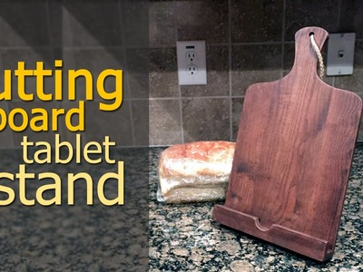 Cutting Board Tablet Stand | DIY iPad Stand From Reclaimed Wood (CMRW#45)