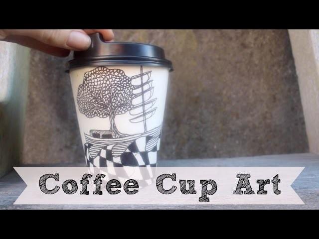 DIY Coffee Cup Art | Sharpie Art | Time Lapse
