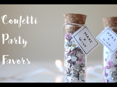 DIY Confetti Party Favors | New Years DIY