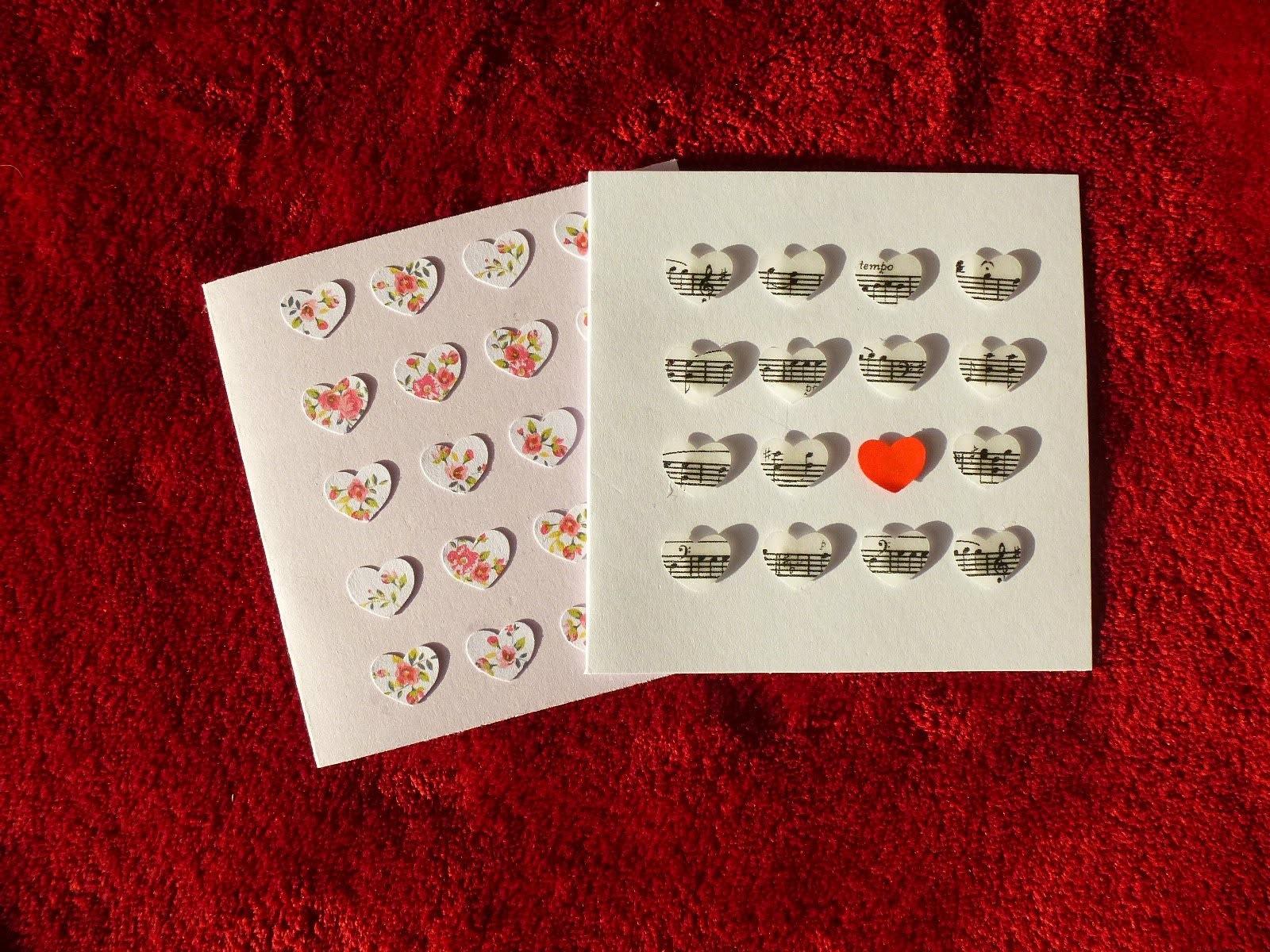 DIY Easy Heart Cards (Valentine)