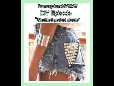 """DIY Episode """"How to make stud pocket shorts"""""""