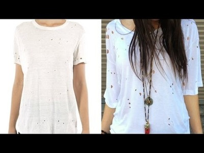 DIY Fashion | How to Make a Holey Tee in Five Minutes