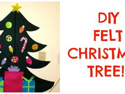 DIY FELT CHRISTMAS TREE - TODDLER ACTIVITY!