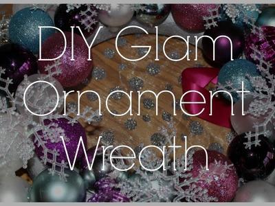 DIY: Glam Bling Holiday Ornament Wreath