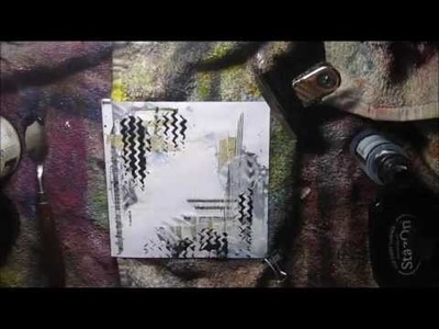 DIY How to make mini journal + mixed media cover