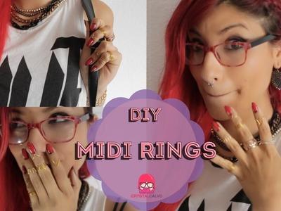 DIY: Knuckle Rings. MIDI RINGS