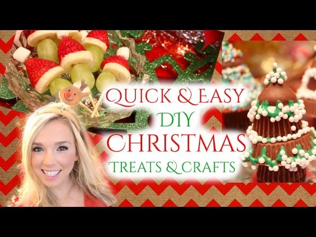 DIY LAST MINUTE QUICK AND EASY Christmas treats and decorations!!!