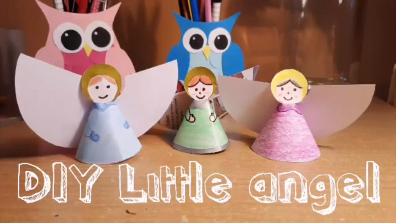 DIY Little Angel Decorations For Christmas