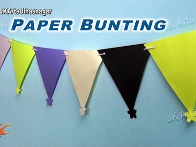 DIY Paper Bunting | Decoration for makar sankranti, Pongal, Birthday | JK Arts 848