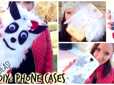 DIY: Phone Cases - Gift Idea Series!(Yeti, Angel Wings, Snowflakes & More) ♡ Anastasia Cheva