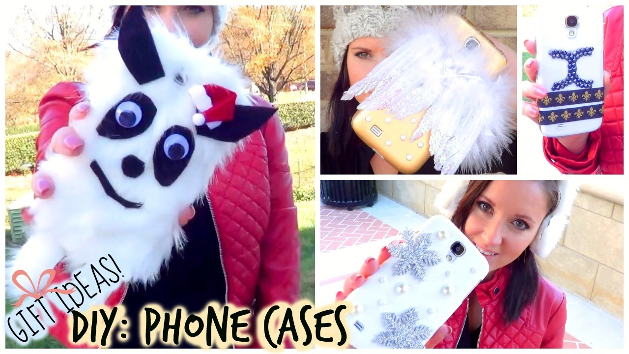 DIY: Phone Cases - Gift Idea Series!(Yeti, Angel Wings, Snowflakes & More) ♡ Anastasia Cheva