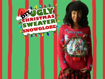 DIY Ugly Christmas Snow Globe Sweater