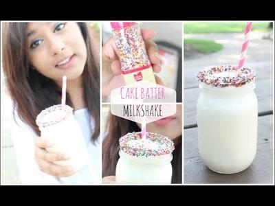 DIY Yummy Summer Treat! Cake Batter Milkshake!