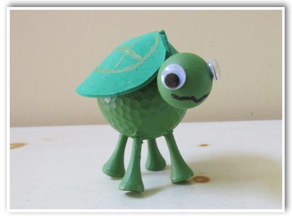 Golf Ball Turtle DIY