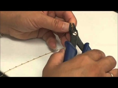 How to finish a  chain with Crimp Ends-Basic Chain #3-Jewelry Making Video-BeadUnoin
