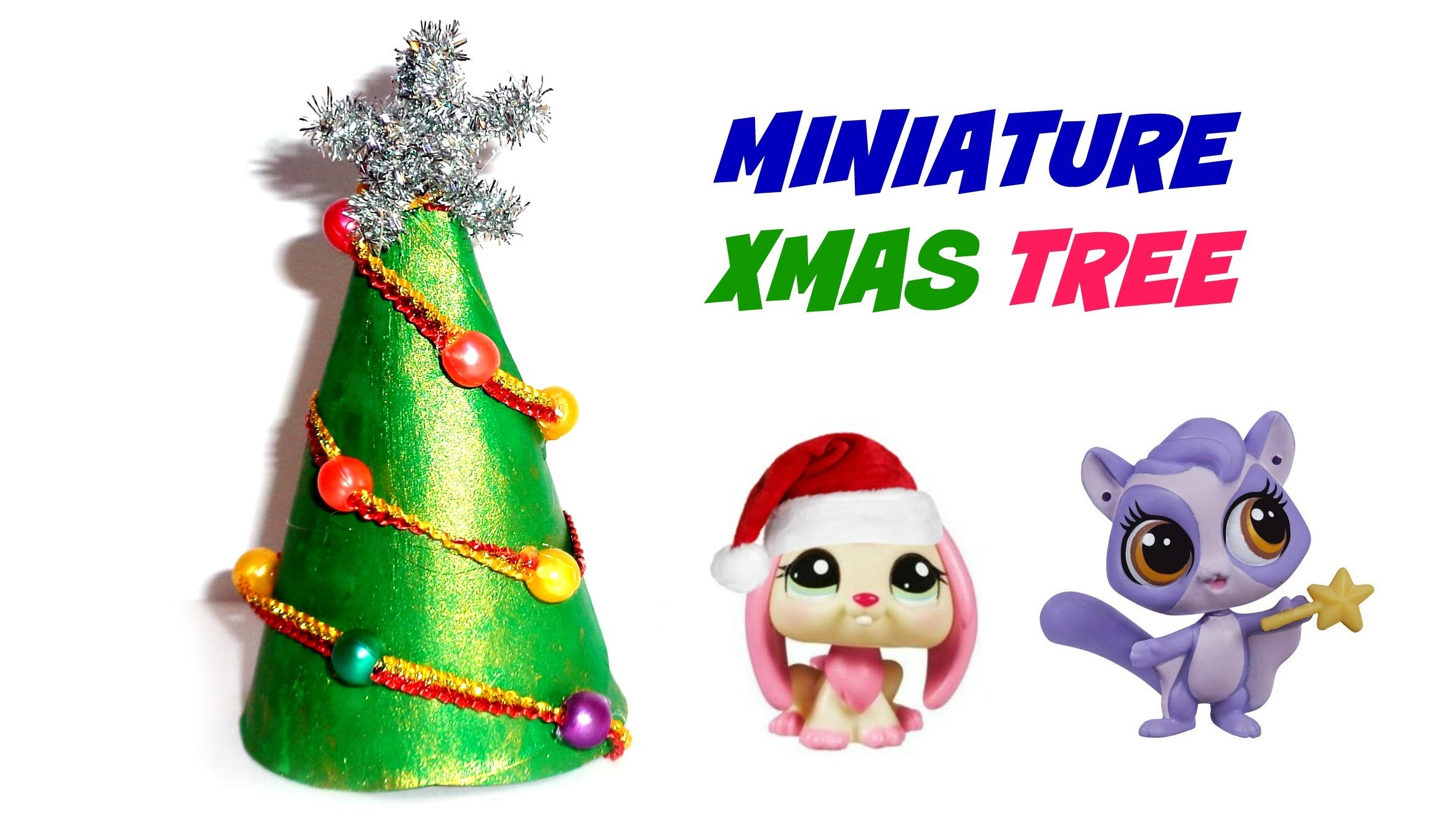Miniature Dollhouse Christmas Tree - DIY LPS Stuff, Crafts & Accessories