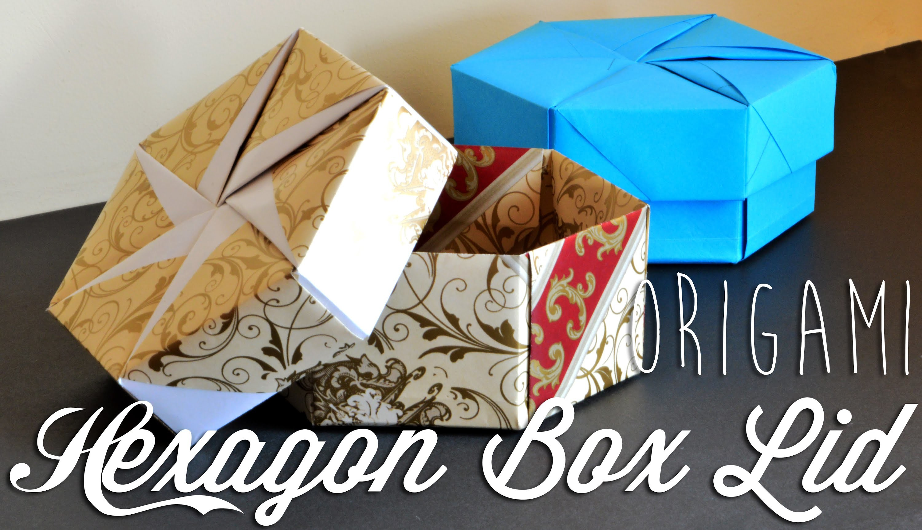Origami Hexagon Box Lid